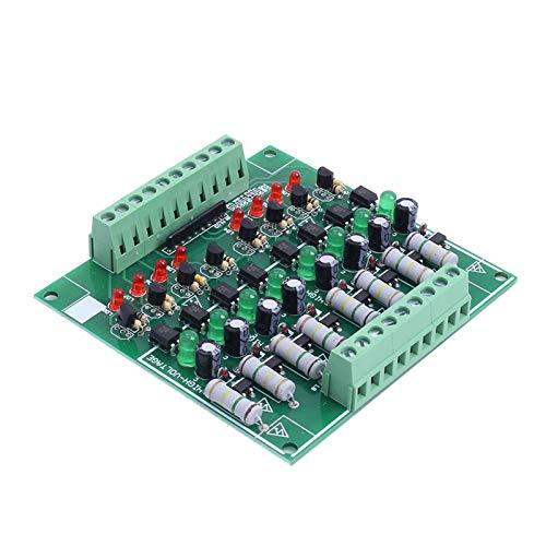 AC 110V 220V to 3V-24V 8 Channel Optocoupler Isolation Board Voltage Level Translator NPN Output PLC Signal Converter Module
