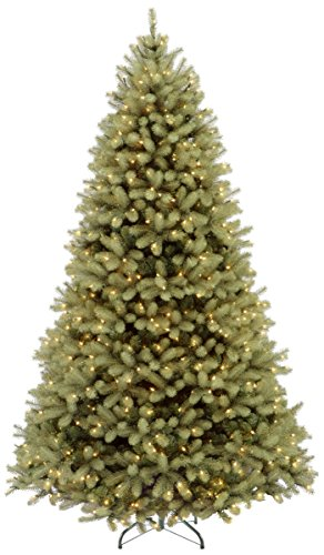 National Tree Company 'Feel Real' Pre-lit Artificial Christmas Tree | Includes Pre-strung Multi-Color LED Lights and Stand | Downswept Douglas Fir - 9 ft