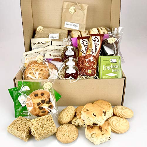 Deluxe Afternoon Tea Gift Hamper - a Luxury Selection of Foods - Chocolate Muffins, Sweet Treats, Tea - Suitable for Vegetarian Diets