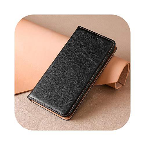 Funda tipo cartera para Xiaomi Redmi 4 4A 5 5A 6 6A 7 7A 8 9 10 Pro 4pro 9A Mi Poco X3 M3 Libro Cuero Funda con tapa imantada -Black-for Redmi 4X
