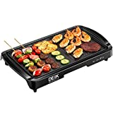 Electric Griddle, DEIK 2-in-1 Indoor Grill Smokeless Coated Non-Stick Pancake Griddle, 20''x10''...