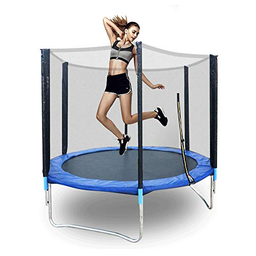 Trampolines for Kids, 6ft Household High-Elastic Trampoline, Mute Waterproof Breathable Protective Net, Suitable for Indoor and Outdoor Trampoline for Adults