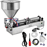 OrangeA Pneumatic Liquid Filling Machine 100-1000ml Liquid and Paste Filling 2 Nozzles Liquid...