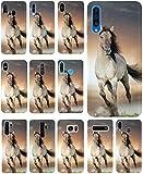 CoverHeld Hülle für Huawei P30 Lite Handyhülle Design 1005 Pferd Braun Weiß Hengst aus flexiblem Silikon SchutzHülle Softcase HandyCover Hülle für Huawei P30 Lite