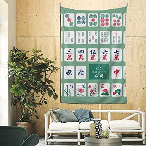 N\A Decoración de Oficina de Pared, Juego de Mesa de Mahjong de Entretenimiento de China, Tapiz de Pared Completo, Arte de Pared para apartamento, Dormitorio, telón de Fondo, decoración del hogar