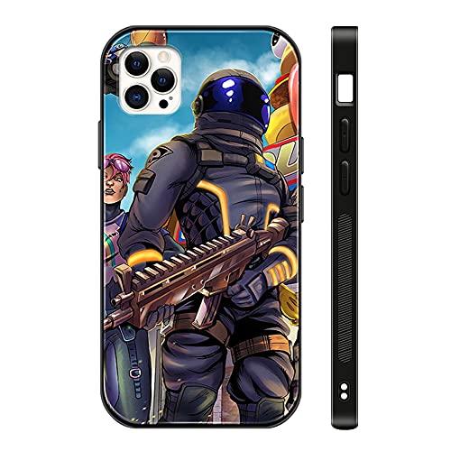 Fortni_te iPhone 12 pro max Case - Fortni_te Game Phone Case for Girls Men Boy, iPhone 12 pro max Cases Shockproof Non-Slip Tempered Glass Pattern Design Case for Apple 12 pro max 6.1-inch