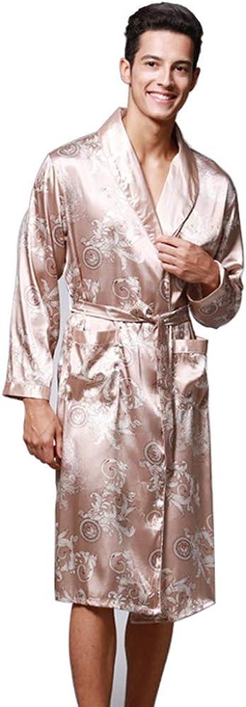 Daiwenwo Limited time sale Men Robe Gown Sleepwear Plus Autu Ranking TOP2 Summer Luxurious Size