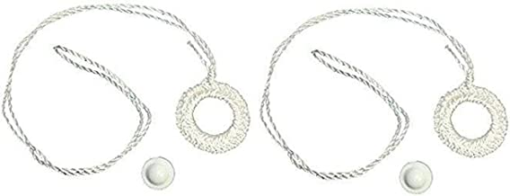 Shade Doctor of Maine Two Pack Roller Window Shade Double Crochet White Ring Pull & Screw Button Set from