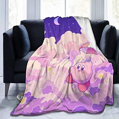 Kir-by - Manta de microfibra de microfibra suave para sofá, cama, sofá, coche, festival, regalo de 127 x 101 cm