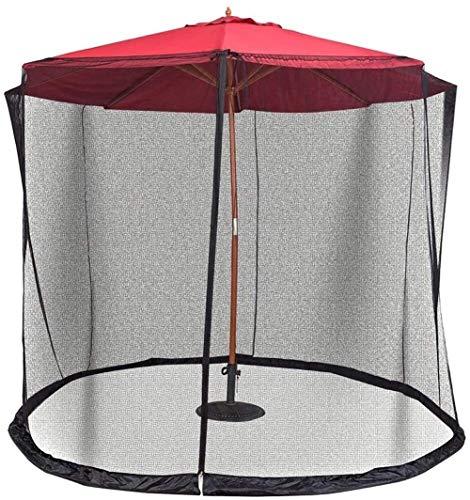YYCHJU Cubierta De Red Anti Mosquitos Ajustable Paraguas Red con la Cremallera de la Puerta de poliéster Malla for Acampar al Aire Libre Patio de Paraguas
