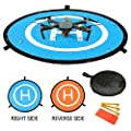 """YINGJEE Drone Landing Pad 30""""/75cm Waterproof Portable Foldable Helipad Helicopter Landig Mat for DJI Phantom 3 4, Mavic Pro, Spark, DJI Mavic Air, Inspire and other Quadcopters by YINGJEE"""
