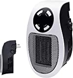 500W Space Heater for Indoor Use in Homes and Offices, Wall Outlet Power Space Heater Visible on TV, with Adjustable Thermostat, Timer and LED Display