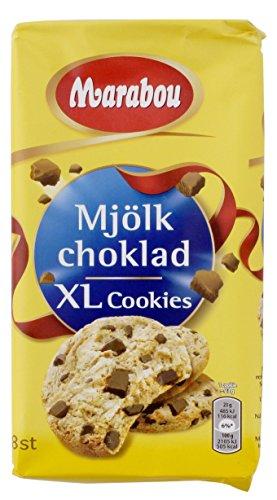 Marabou - Original Mjölkchoklad XLCookies de Suecia - 8 piezas, (1x184g)