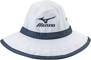 Mizuno Large Brim Sun Hat White/Navy, Large/X-Large