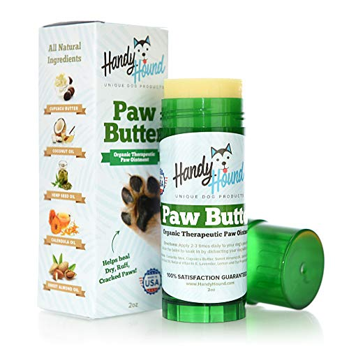 Paw Butter Paw Balm for Dogs & Cats – Helps to Heal and Protect Dry, Rough, Chapped, Cracked Paws & Snout - Made from The Finest All-Natural Wax, Oils, and Butters | Made in The USA