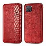 Trugox Handyhülle für Oppo Reno 4Z 5G Hülle Leder Klapphülle mit Kartenfach Ständer Flip Hülle für Oppo Reno 4 Z 5G - TRSDA120706 Rot