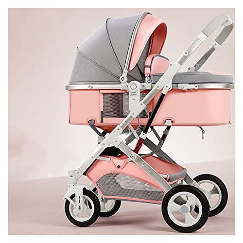 Cochecito de bebé para niños pequeños, cochecito 2 en 1 para cochecito de bebé recién nacido, paraguas de alta visión y capazo compacto plegable para cochecito, saco y cochecito de juguete