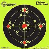 Splatterburst Targets - 8 inch Bullseye Reactive Shooting Target - Shots Burst Bright