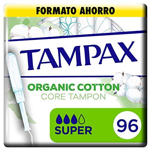 Tampax  Cotton Protection Super Con Aplicador 96 x, Tampones De Algodón Orgánico De Tampax