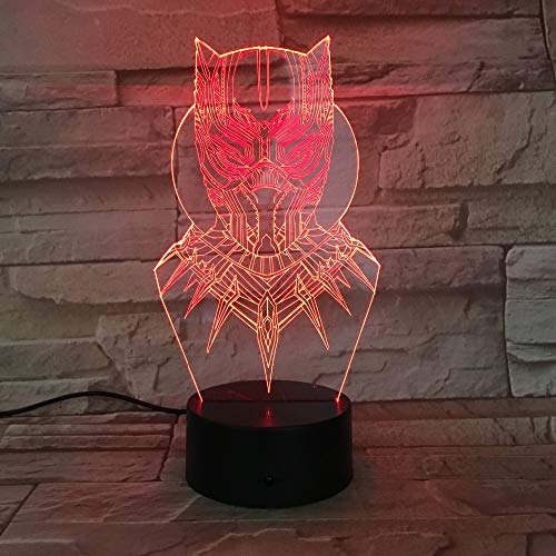 3D Led Black Panther Night Light Usb Touch Luminous Super Hero Thor Desk Lamp Kids Bedroom Sleep Lighting Worldwide