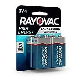 Rayovac 9V Batteries, Alkaline 9V Battery (4 Count)