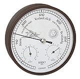 TFA Dostmann Estación meteorológica analógica para interior y exterior, barómetro, higrómetro, termómetro, resistente a la intemperie