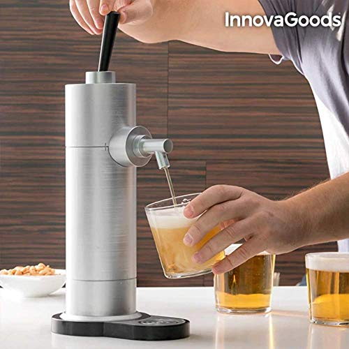 InnovaGoods - Grifo de Cerveza - Color Gris - 18.5x12x41 cm