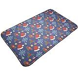 YUYUTE Fußabtreter Non-Slip Door Mat Christmas Hats Pattern Decorative Home Door Mat Water Absorbent Rug Mat Soft Bath Mats 19.5 * 31.5 inch