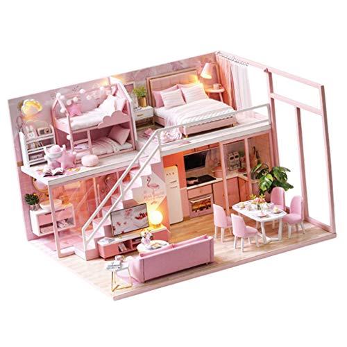 yotijar Casa delle Bambole in Legno Fai da Te, Casetta delle Fiabe, per Bambini - 04