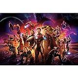 Rompecabezas Iron Man Puzzle 300/500/1000/1500 Pieza Marvel Avengers Hijos Adultos Juguete Grande Puzzle (Color : B, tamaño : 1000 Tablets)