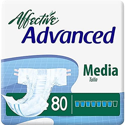 Affective Advanced Pañal Adulto Incontinencia Severa Unisex Talla M - 80 Pañales 100 g