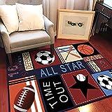 WDDMFR Alfombra moderna estilo deportivo MVP All-Star Área Alfombras, suave y cómoda decoración del hogar juego Mat, utilizado para dormitorio, sala de estar, cocina cabecera