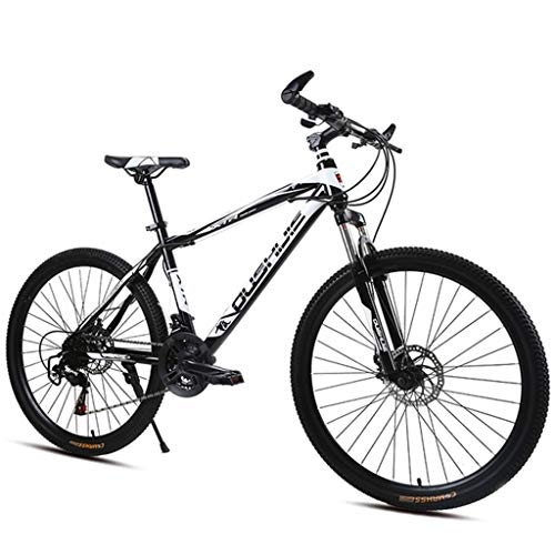 Dsrgwe Mountain Bike/Bicycles,Carbon Steel Frame Hard-tail Bike,Front Suspension and Dual Disc Brake,26inch Mag Wheels (Color : Black, Size : 21-speed)