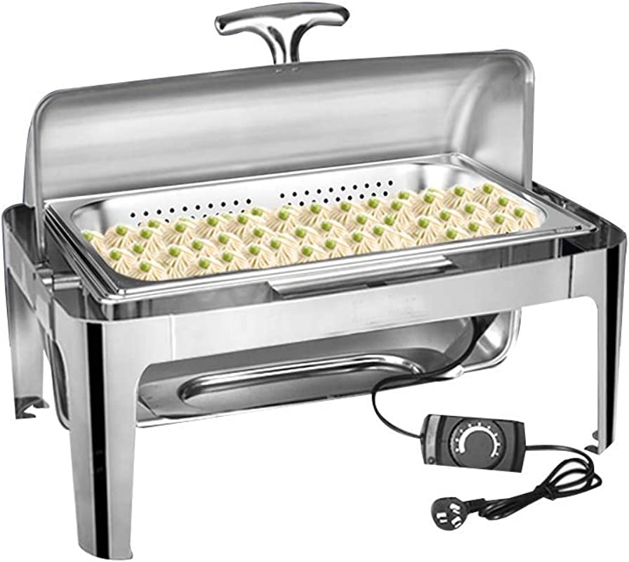 Thick Stainless Steel Buffet Stove Electric Heating All Steel Cover Split Design Hot Pot Warm Tray Suitable For Buffets Restaurants Parties Events Family Banquets Etc