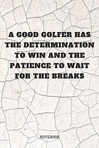 Notebook: Funny Golfing Golf Game Planner / Organizer / Lined Notebook (6