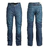 Roleff Racewear Pantalones Vaqueros de Motorista de Aramida, Azul, 36