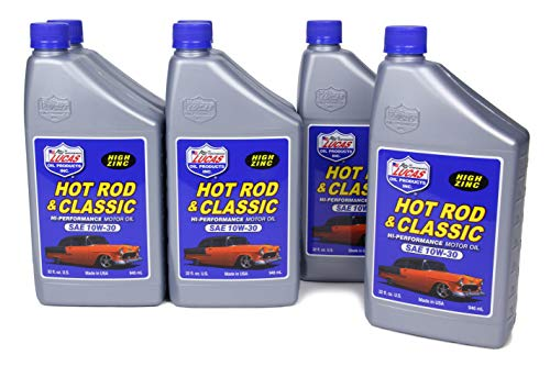 Lucas Oil 10687-6PK SAE 10W-30 Hot Rod and Classic Car High Performance Motor Oil - 1 Quart, (Case of 6)