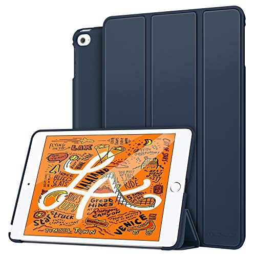 MoKo Case Fit New iPad Mini 5 2019 (5th Generation 7.9 inch) - Lightweight Smart Slim Shell Stand Cover Premium PU Leather Folio Case with Auto Wake/Sleep - Indigo