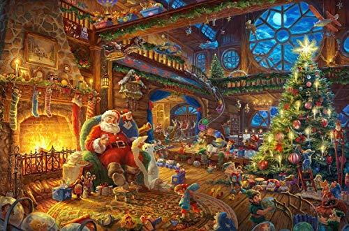 YDPTYANG Bambini Puzzle 500 Pezzi La casa di Babbo Natale Adulti Puzzle Giocattolo di Legno Gioco Puzzles