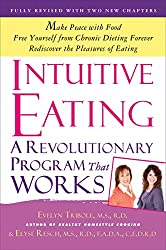 Photo of book cover for Intuitive Eating book.