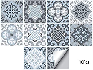 Alwayspon Waterproof Vinyl Wall Tiles Sticker for Home Decor, Self-Adhesive Peel and Stick Backsplash Tile Decals for Kitchen Bathroom Decor, 8x8inch 10 Pcs