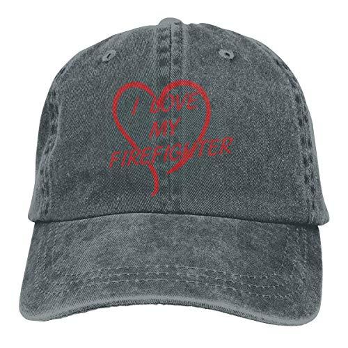 Preisvergleich Produktbild Voxpkrs I Love My Firefighter Unisex Cowboy Hat Baseball Caps Adjustable Trucker Hats Cool7994