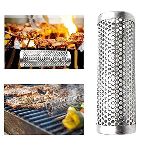 Preisvergleich Produktbild QingMing Pellet Smoker Tube Edelstahl-Räucherröhre Anpassbar an Elektro-Gas-Holzkohlegrill oder Raucher,  5 Stunden Rauchschwaden - Kalt- / Heißrauchen - Ideal zum Räuchern von Fisch,  Schweinefleisch