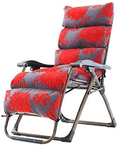 OESFL Salón Silla reclinable Plegable al Aire Libre Sillas Silla de salón Relajante Almuerzo con la Almohadilla de algodón