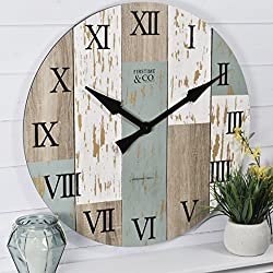 FirsTime & Co. Timberworks Wall Clock, 27 inches, (Model: 31016)