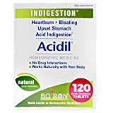 Boiron Acidil Indigestion Medicine for Heartburn and Acid Reflux, 120 Tablets