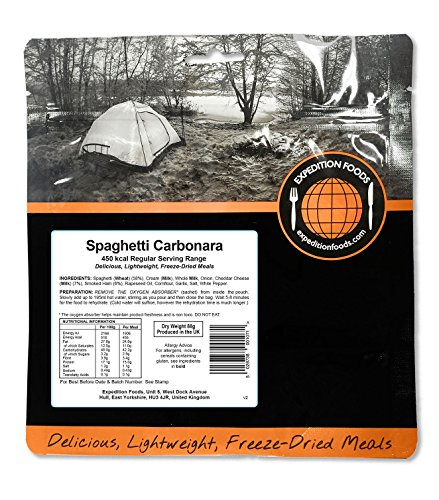 Expedition Foods Spaghetti Carbonara Regular Servieren