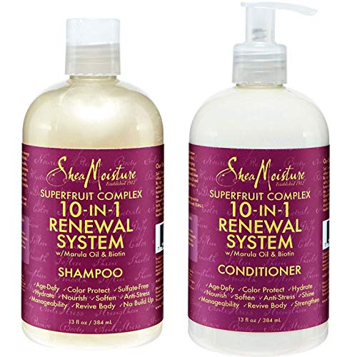 Shea Moisture Superfruit Complex 10-in-1 Renewal System Shampoo & Conditioner by Shea Moisture