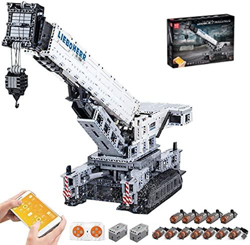 TéCnica Liebherr KgrúA LTR 11200, Mould King 17002, GrúA De Oruga Grande con Motor, 4000 Piezas, Bloques De SujecióN, Compatible con La TéCnica Lego