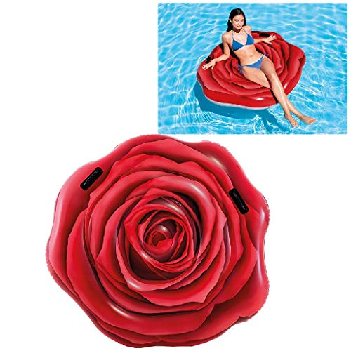 Intex 58783EU - Rosa Roja Hinchable fotorrealista con asas